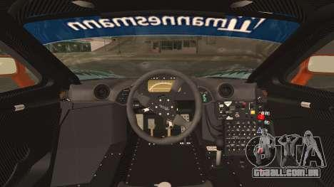 McLaren F1 GTR 1998 para GTA San Andreas vista traseira