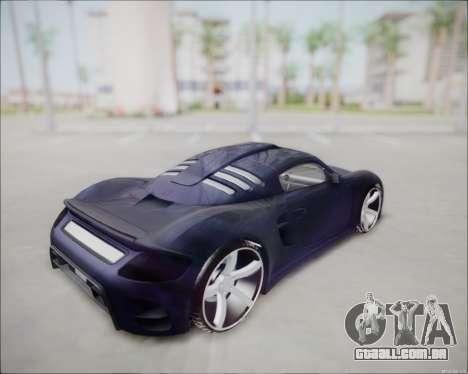 Ruf CTR 3 2015 para GTA San Andreas traseira esquerda vista