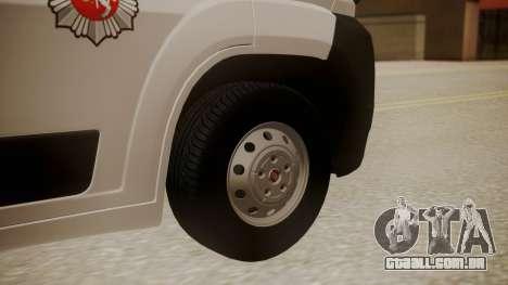 Fiat Ducato Lithuanian Police para GTA San Andreas traseira esquerda vista