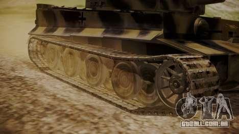 Panzerkampfwagen VI Tiger Ausf. H1 No Interior para GTA San Andreas traseira esquerda vista