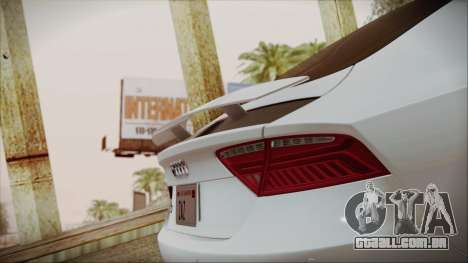 Audi RS7 Sportback 2015 para o motor de GTA San Andreas