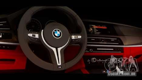 BMW M5 F10 Top Service MSK para GTA San Andreas vista direita