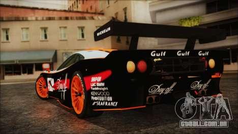McLaren F1 GTR 1998 para GTA San Andreas esquerda vista