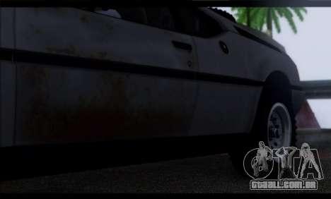 BMW M1 E26 Rusty Rebel para GTA San Andreas vista superior