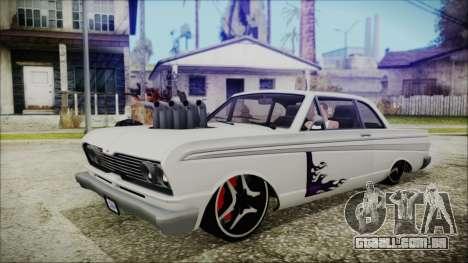 Blade Custom para GTA San Andreas traseira esquerda vista