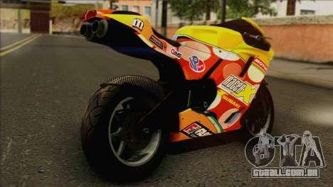 GTA 5 Bati HD para GTA San Andreas esquerda vista