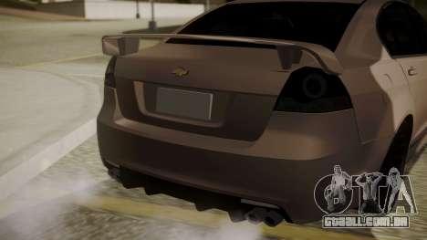 Chevrolet Lumina SS 2011 K.N Edition para GTA San Andreas vista traseira