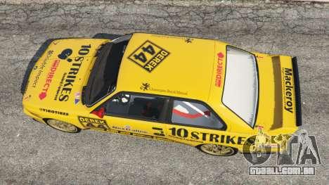 GTA 5 BMW M3 (E30) 1991 [10 strikes] v1.2 voltar vista