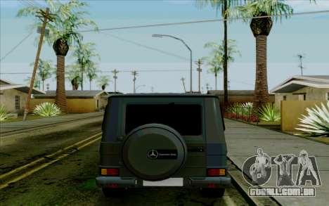 Mercedes-Benz G500 1999 para GTA San Andreas vista traseira