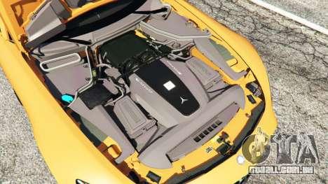 GTA 5 Mercedes-Benz AMG GT 2016 v2.0 traseira direita vista lateral