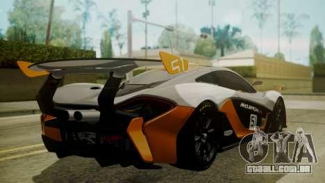 McLaren P1 GTR 2015 para GTA San Andreas esquerda vista