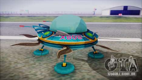 X808 UFO para GTA San Andreas vista direita