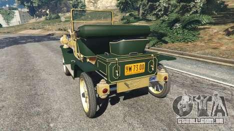 GTA 5 Ford Model T [one color] traseira vista lateral esquerda