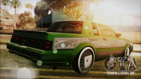 GTA 5 Faction LowRider DLC para GTA San Andreas esquerda vista