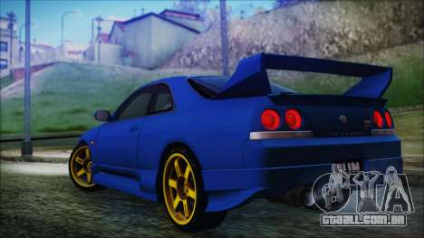 Nissan Skyline R33 Kantai Collection Kongou PJ para GTA San Andreas esquerda vista