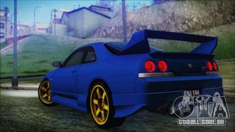 Nissan Skyline R33 Kantai Collection Kongou PJ para GTA San Andreas esquerda vista