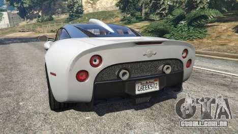 GTA 5 Spyker C8 Aileron traseira vista lateral esquerda
