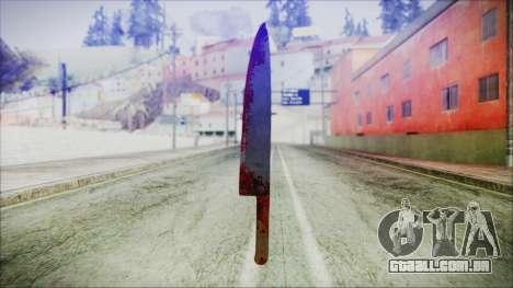 Helloween Butcher Knife para GTA San Andreas segunda tela