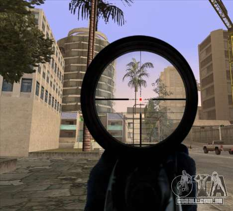 Sniper Scope v2 para GTA San Andreas segunda tela