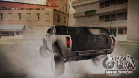 Hummer H2 C.E.L.L. Crysis 2 para GTA San Andreas esquerda vista