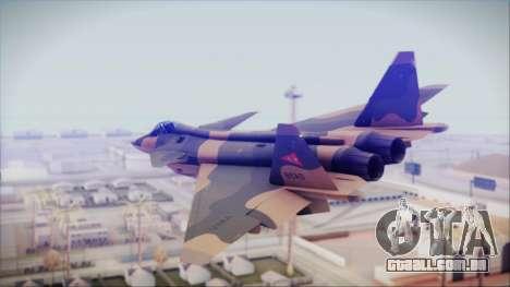 Mikoyan MIG 1.44 Flatpack Venezuelan Air Force para GTA San Andreas esquerda vista