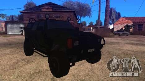 Komatsu LAV 4x4 Unarmed para GTA San Andreas traseira esquerda vista