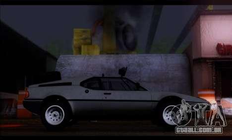 BMW M1 E26 Rusty Rebel para GTA San Andreas esquerda vista