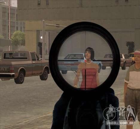 Sniper Scope v2 para GTA San Andreas por diante tela