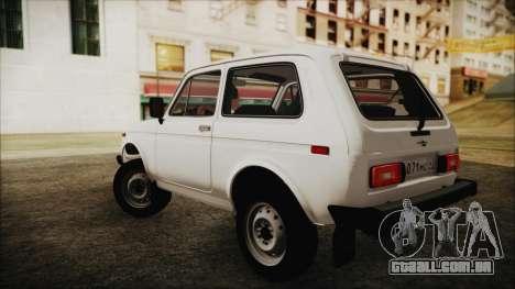 VAZ 2121 Niva 1600 para GTA San Andreas esquerda vista
