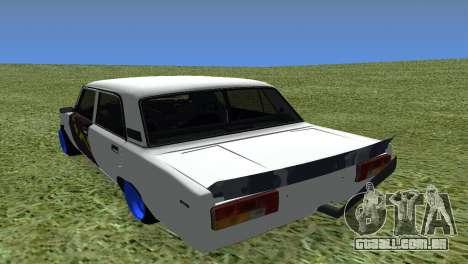 VAZ 2105 Bq Final para GTA San Andreas traseira esquerda vista