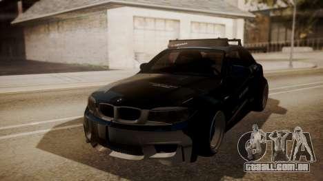 BMW 1M E82 with Sunroof para GTA San Andreas vista superior