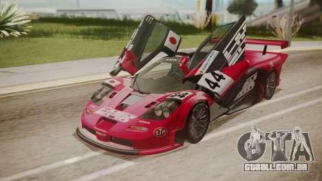 McLaren F1 GTR 1998 Team Lark para GTA San Andreas interior