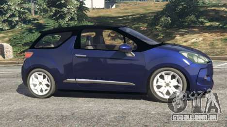 GTA 5 Citroen DS3 2011 vista lateral esquerda
