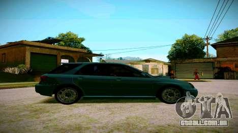 Subaru Impreza WRX STI Wagon para GTA San Andreas traseira esquerda vista