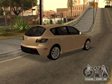 Mazda 3 MPS Tunable para GTA San Andreas esquerda vista