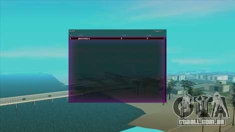 SampGUI Violet para GTA San Andreas