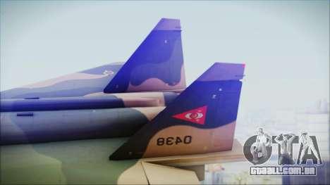 Mikoyan MIG 1.44 Flatpack Venezuelan Air Force para GTA San Andreas traseira esquerda vista