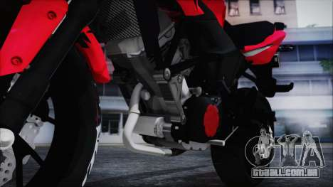 Honda CB150R Red para GTA San Andreas vista traseira
