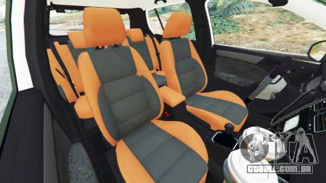 GTA 5 Volkswagen Golf Mk6 Dutch Police vista lateral direita