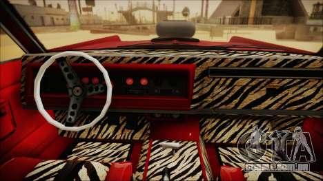 GTA 5 Vapid Chino Custom IVF para GTA San Andreas traseira esquerda vista