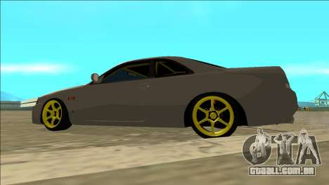 Nissan Skyline R33 Drift para GTA San Andreas vista interior