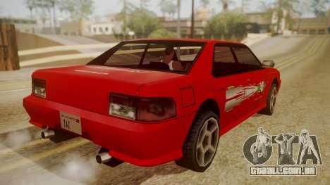 Sultan FnF Skins para GTA San Andreas esquerda vista