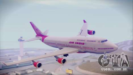 Boeing 747-437 Air India Tanjore Old Skin para GTA San Andreas traseira esquerda vista
