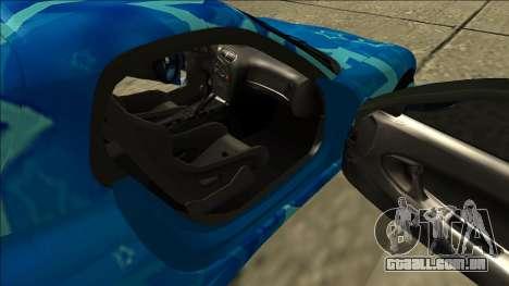 Mazda RX-7 Drift Blue Star para GTA San Andreas vista interior