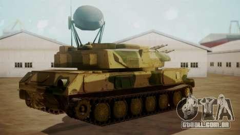 ZSU-23-4 Shilka para GTA San Andreas esquerda vista