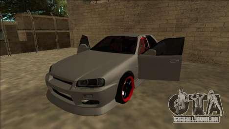 Nissan Skyline ER34 Drift para GTA San Andreas vista traseira