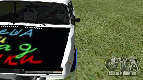 VAZ 2105 Bq Final para GTA San Andreas vista interior