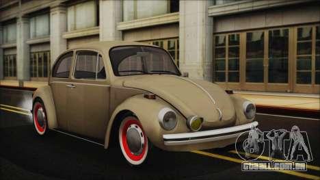 Volkswagen Beetle 1973 para GTA San Andreas vista interior