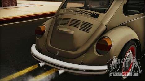 Volkswagen Beetle 1973 para GTA San Andreas vista traseira