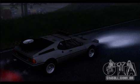 BMW M1 E26 Rusty Rebel para GTA San Andreas vista direita